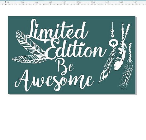 Limited edition be awesome,  funky, vintage, feathers ,110 x 180